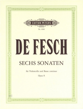 6 Sonatas: Op8: Cello (Peters)