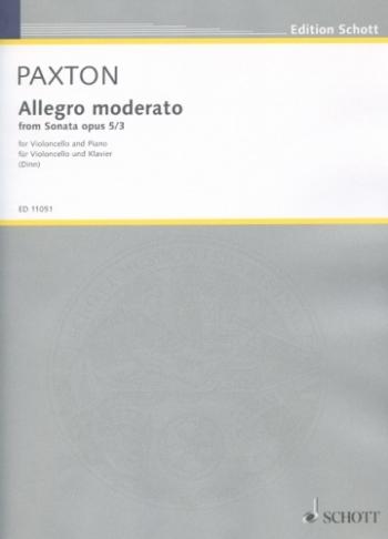 Allegro Moderato From Sonata: Op5: 3: Cello  (Schott)