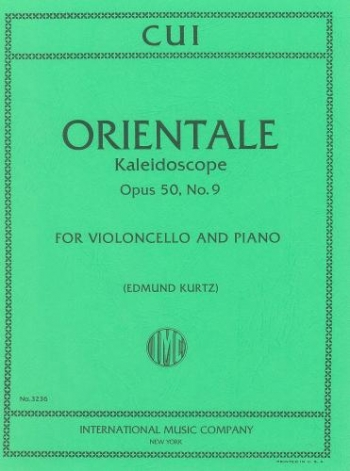 Orientale: Op50 No.9: Cello & Piano  (International)