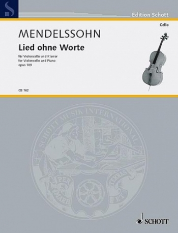 Song Without Words: Op109: Cello & Piano  (Schott)