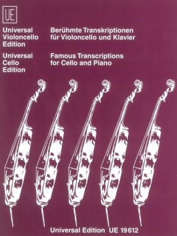 Famous Transcriptions For Cello and Piano  (Universal)