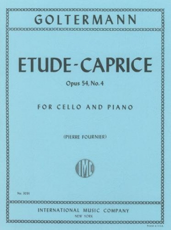 Etude Caprice Op54: Cello & Piano  (International)
