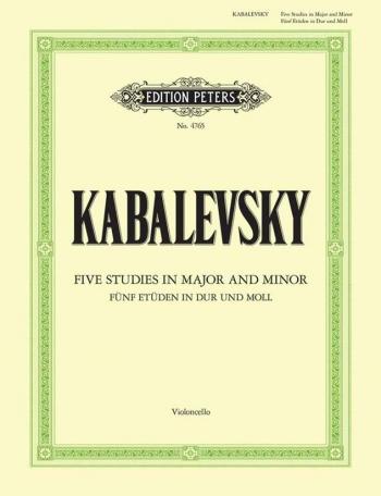 Five Studies In Major And Minor Op67: Cello  (Peters)