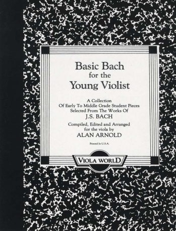 Basic Bach For Viola: Viola and Piano (Viola World)