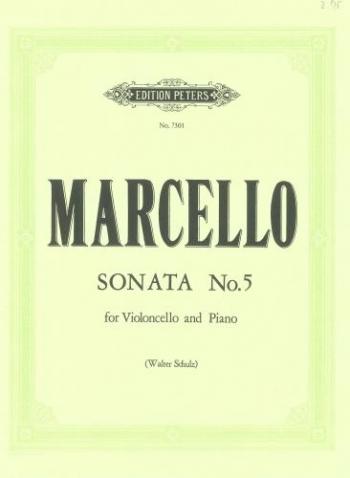 Sonata C Major No 5: Cello & Piano (Peters)