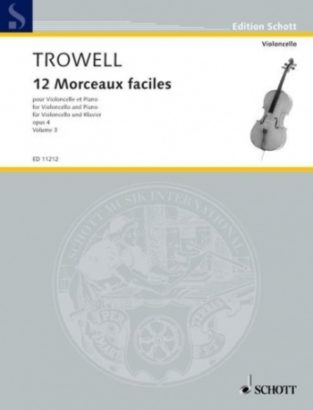 12 Morceaux Faciles Vol.3 Op.4: Cello & Piano (Schott)