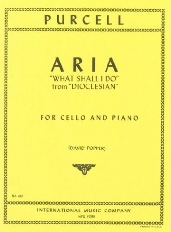 Aria: What Shall I Do: Cello & Piano (International)