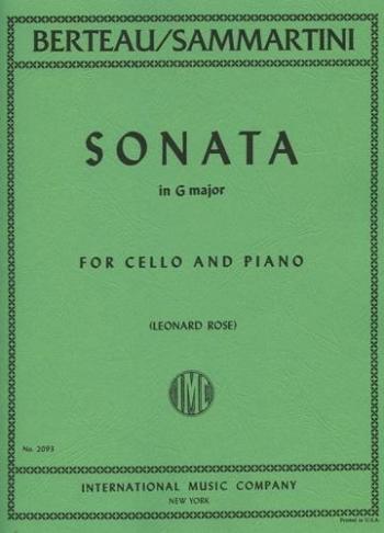 Cello  Sonata: G Major: A Minor: Cello & Piano(formally Sammartini)  (International)