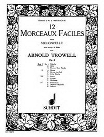 12 Morceaux Faciles Vol.1 Op.4: Cello & Piano (Schott)
