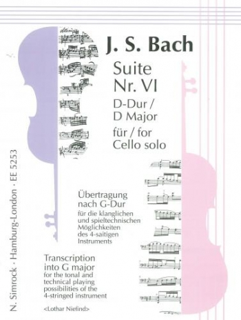 Suite No 6: D Major: Cello