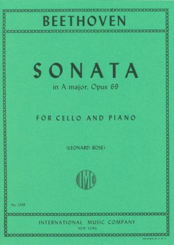 Cello Sonata A Major Op.69: Cello & Piano (International)