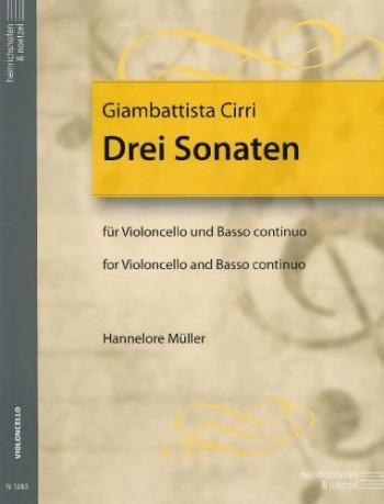 3 Sonatas: Cello & Piano  (Heinnrichshofen)
