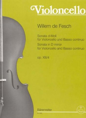 Sonata D Minor: Op13: 4: Cello (Barenreiter)