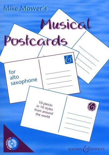 Musical Postcards: Alto Saxophone: Book & CD