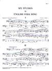 6 Studies In English Folk Song: Alto Saxophone Part