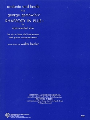 Rhapsody In Blue: Andante And Finale: Alto Saxophone (Alfred)