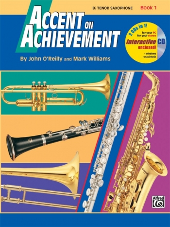 Accent On Achievement: 1: Tenor Saxophone: Book And CD