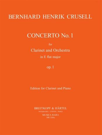 Clarinet Concerto: Eb Major: Op1: Clarinet & Piano (Breitkopf)