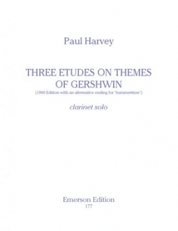 3 Etudes On A Theme Of Gershwin: Clarinet Solo (Emerson)