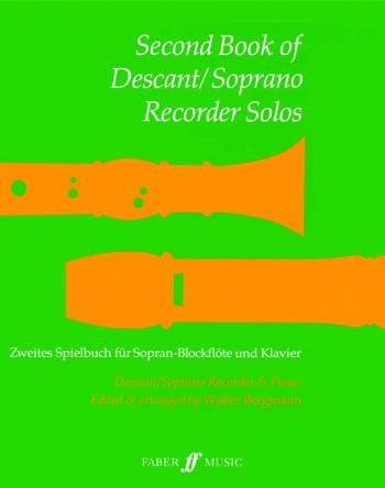 Second Book Of Descant Recorder Solos: Recorder and Piano