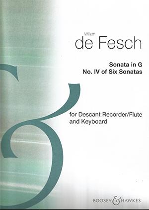 Sonata In G: Descant Recorder & Piano