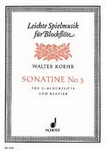 Sonata No3: Recorder and Piano