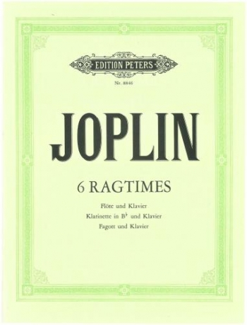 Scott Joplin: 6 Ragtimes: Clarinet (Peters)
