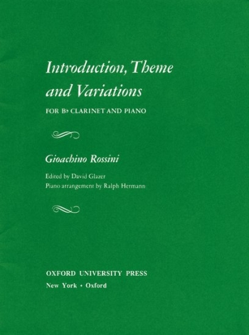 Introduction Theme And Variations: Clarinet & Piano (Oxford)