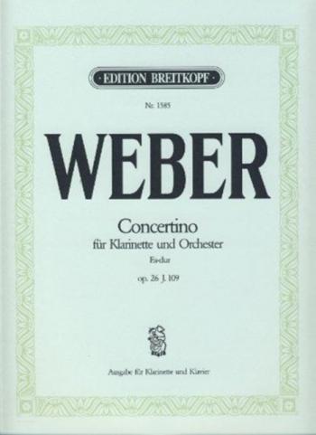 Concertino Eb Major Op26: Clarinet & Piano (Breitkopf)