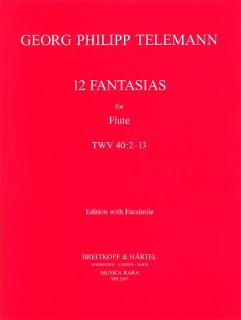 12 Fantasias: Flute: Studies (Musica Rara)