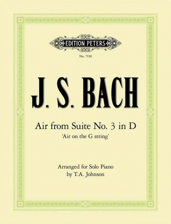 Air On The G String From Suite No3 In D: Piano  (Peters)