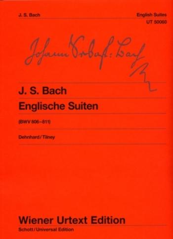 English Suites (6 )BWV 806-811:  Piano (Wiener Urtext)