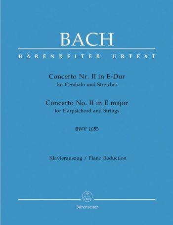 Concerto E Major No.2 Bwv 1042: Piano  (Barenreiter)