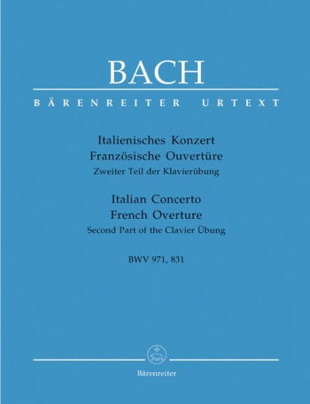 Italian Concerto and French Overture: Piano (Barenreiter)