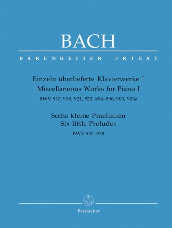 Miscellaneous Works For Piano: Book 1 (Barenreiter)
