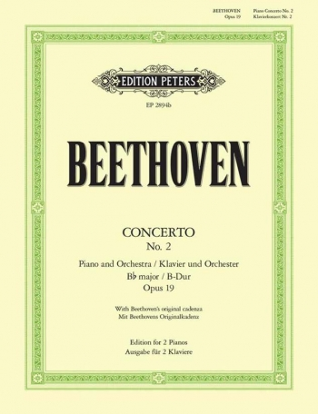 Piano Concerto: Op.19/2 Bb Major: Pianos 4 Hands (Peters)