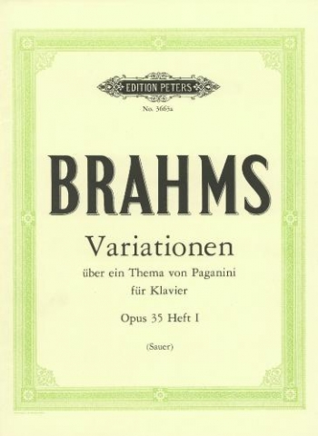 Variations On A Theme Of Paganini Op.35 No.1: Piano (Peters)