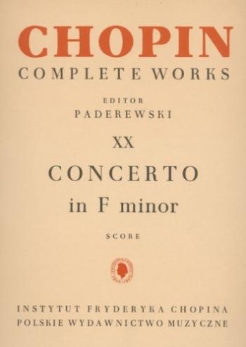 Complete Works Vol 20: Concerto F Min: Piano (paderewski)