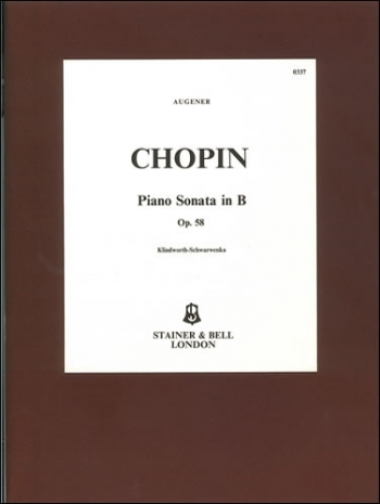 Sonata Op.58 B Minor: Piano (Stainer & Bell)