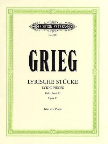 Lyric Pieces Op.43: 3: Piano (Peters)