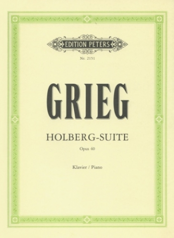 Holberg Suite Op.40: Piano (Peters)