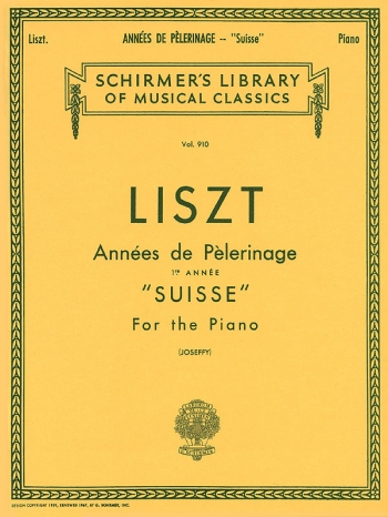 Annees De Pelerinage First Annee: Piano (Schirmer Ed)