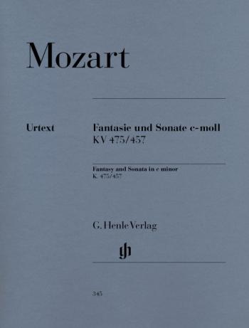 Fantasy And Sonata In Cm Kv475: 457: Piano  (Henle Ed)
