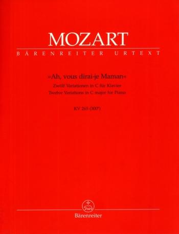 12 Variations On Ah Vous Dirai - Je Maman Kv265: Piano (Barenreiter)
