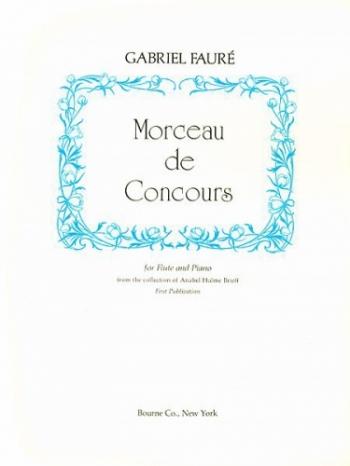 Morceau De Concours: Flute & Piano (Bourne)