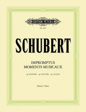 Impromptus And Moments Musicaux: Piano  (Peters)