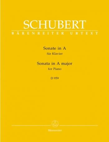 Sonata: A Major: Piano: D959 (Barenreiter)