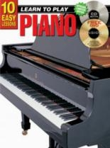 10 Easy Piano Lessons Teach Yourself Piano: Book & Cd