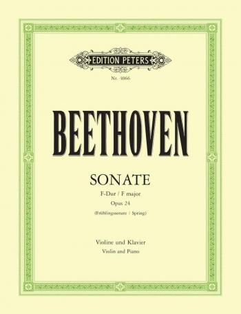 Violin Sonata Op24: Spring Sonata: Violin & Piano (Peters)