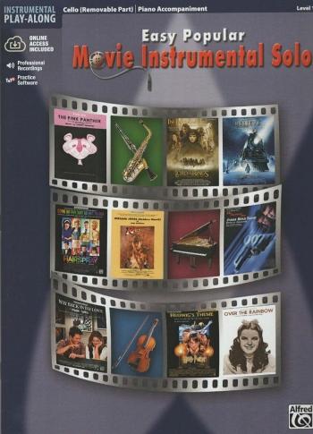 Easy Popular Movie Instrumental Solos: Cello: Book & CD (Alfred)
